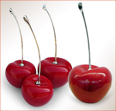 Ceramic Fruit - Red Cherries