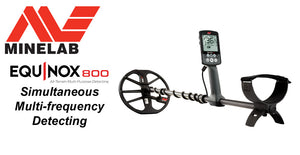 Minelab Equinox 800 simultaneous multi-frequency detecting