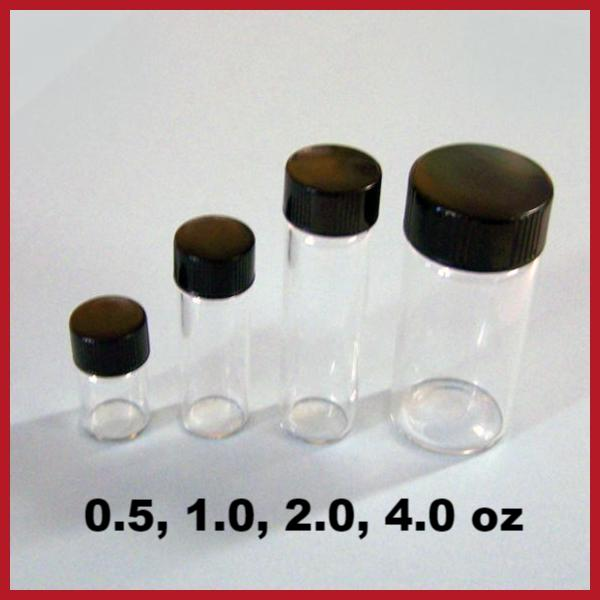 Sample bottle - Glass four ounce