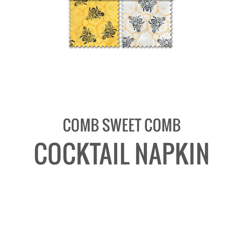 Comb Sweet Comb Cocktail Napkin