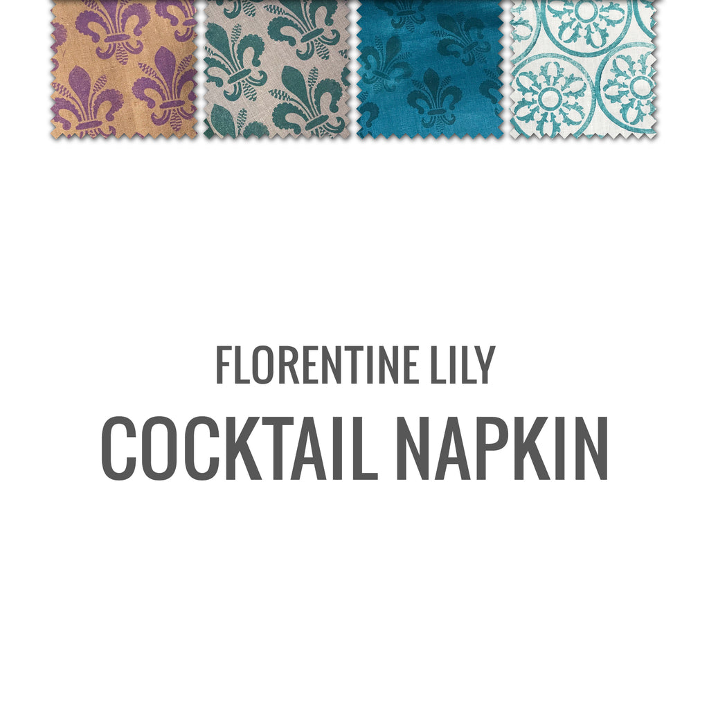 Florentine Lily Cocktail Napkin