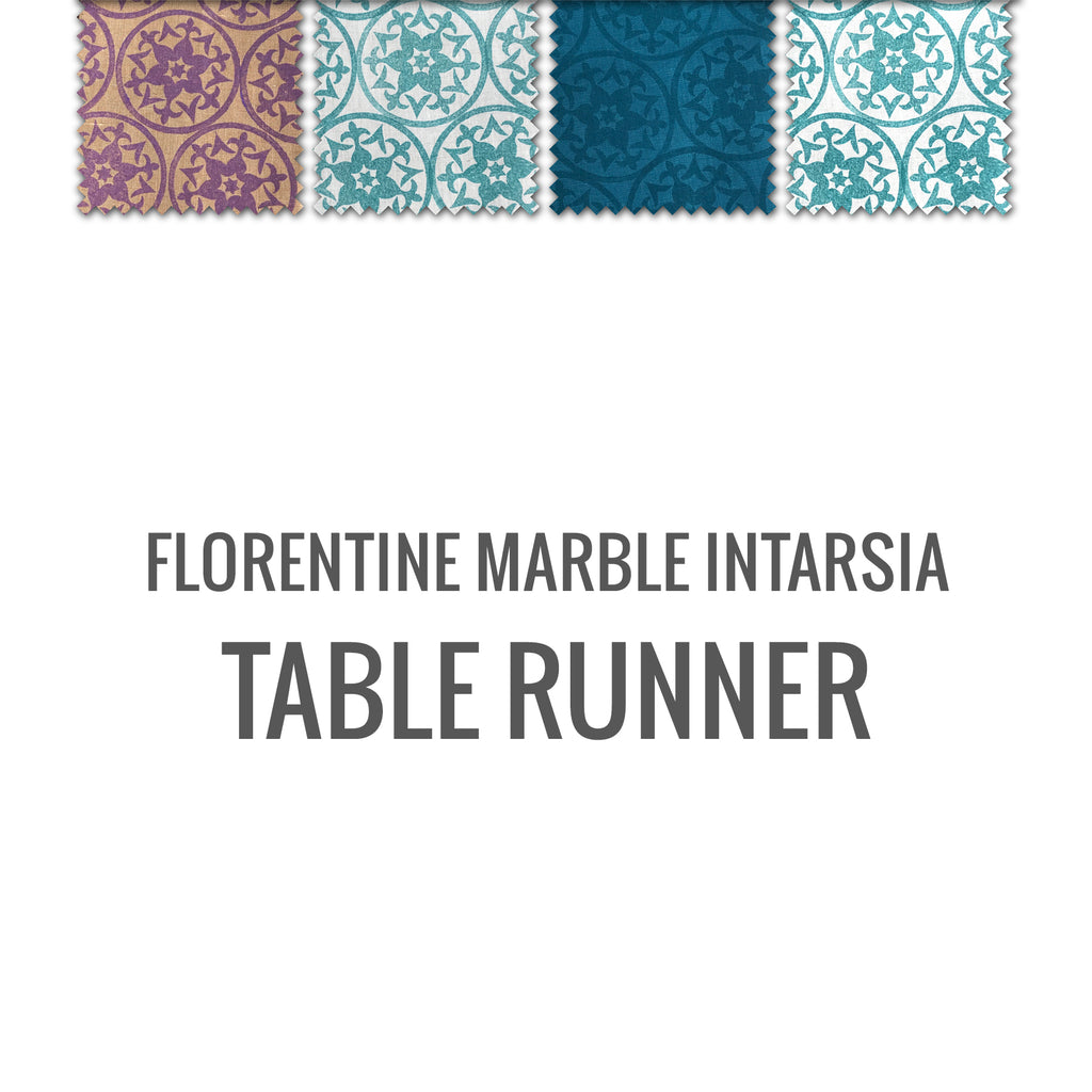 Florentine Marble Intarsia Table Runner