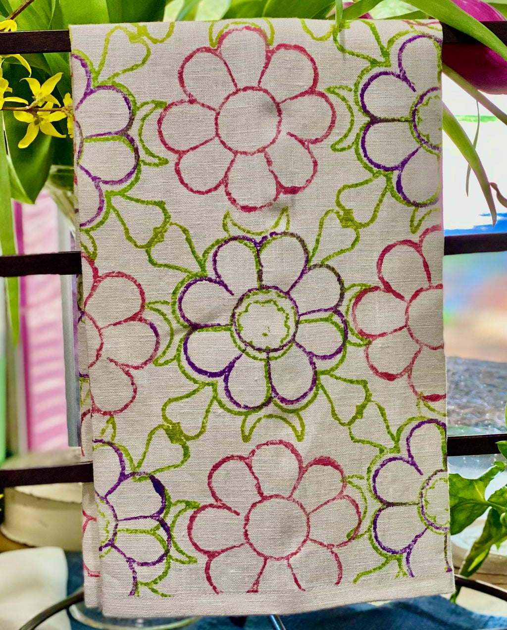 May Flowers Tea Towel