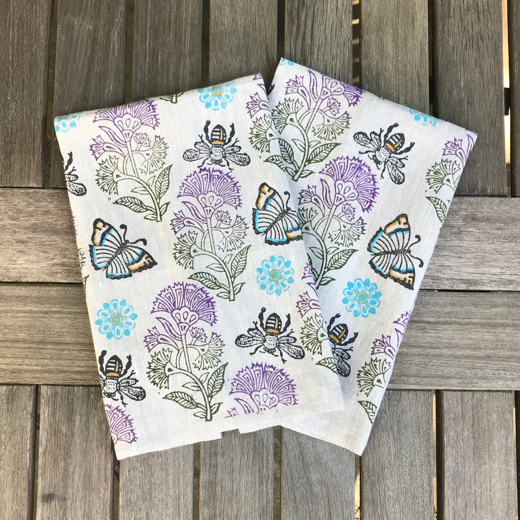 Thistle Bee Sweet Tea Towel