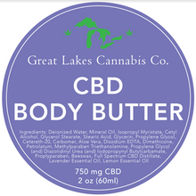 Load image into Gallery viewer, CBD Body Butter 750 mg CBD