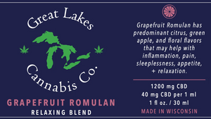Relaxing CBD Oil - Grapefruit Romulen