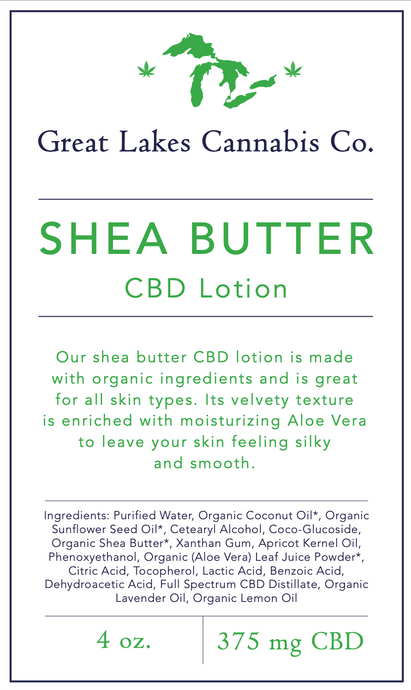 4 oz Lotion - 375 mg CBD