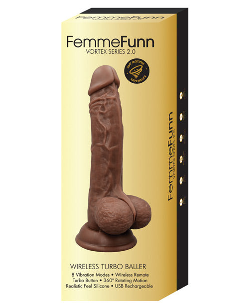 Femme Funn Turbo Baller 2.0 with8 powerful vibration modes and sculpted G spot precisionFemme Funn Turbo Baller 2.0  Box