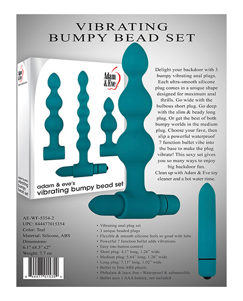 Adam & Eve Vibrating Anal Bumpy Bead Set Box