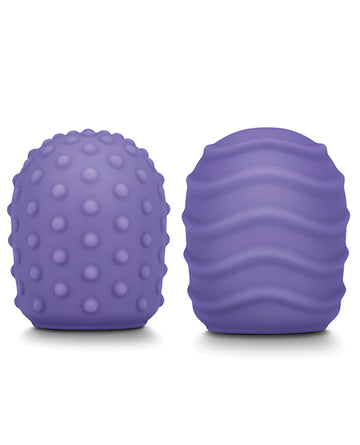 Le Wand Petite Pack Of 2 Silicone Texture Covers - Violet