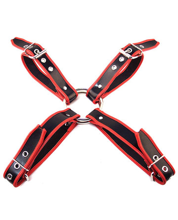 Rouge Chest Harness Large - Black-red