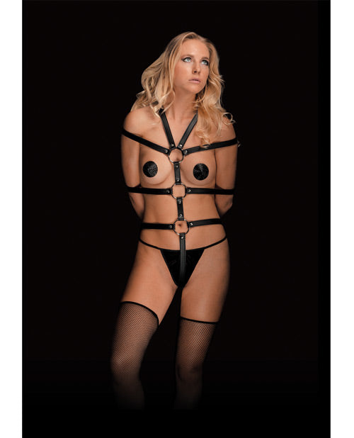 Shots Ouch Calida Pretty Perfection Female Body Harness - Black