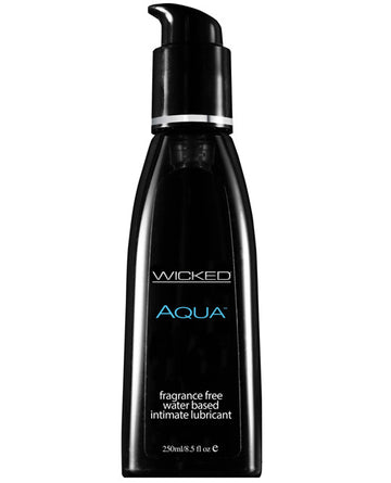 Wicked Sensual Care Aqua Waterbased Lubricant - 8.5 Oz Fragrance Free