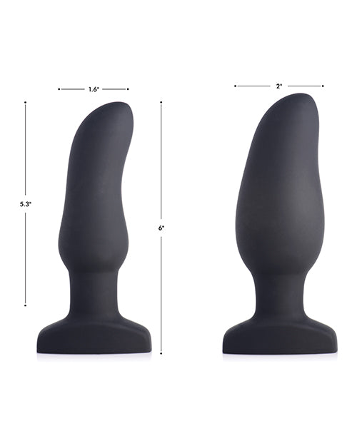 Swell 10x Inflatable & Vibrating Curved Silicone Anal Plug