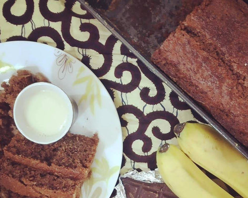 Chocolate banana bread/Gateau choco-banane