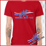 t-sh short sleep red logo thai flag