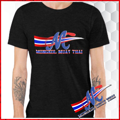 tee shirst black s m l xl logo m thai flag
