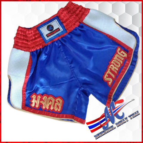 thai shorts strong blue white red xs, s, m, l ,xl