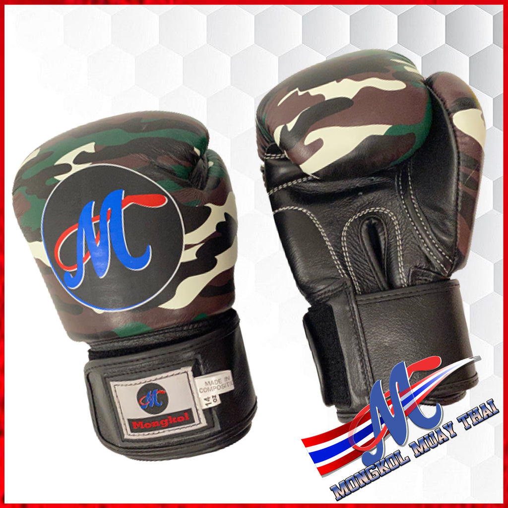 Mongkol Muay Thai Boxing Gloves - Fancy CM-GREEN/BLACK
