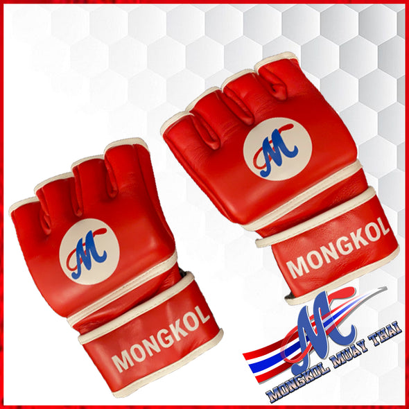 GLOVES MMA RED 4OZ MONGKOL, MMA GLOVES