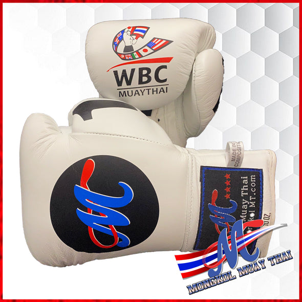 Mongkol Muay Thai Gloves -  WBC Edition White