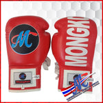 Mongkol Muay Thai Boxing Gloves- Red Lace Up #5**