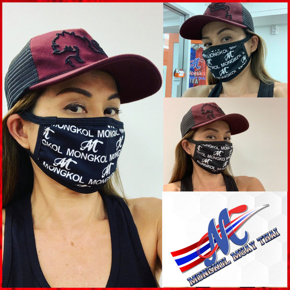 Mongkol Mask with Logo M Black color