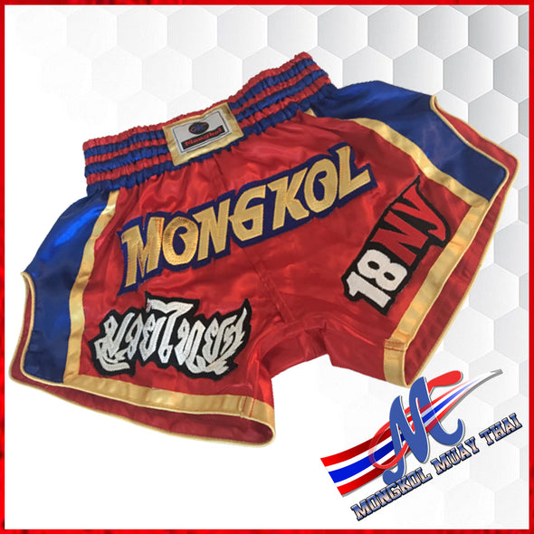 Mongkol Muay Thai  Shorts 18 NY Red