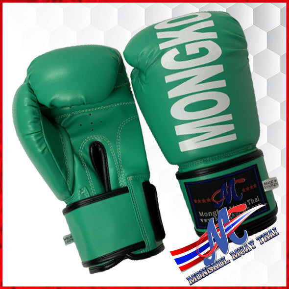 boxing gloves bright green printed monkol 12 ,16ozkol