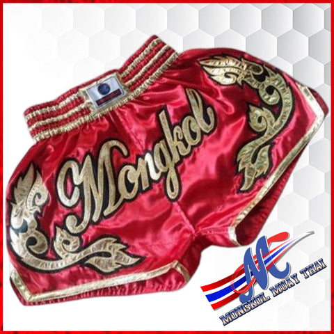 Mongkol Muay Thai Shorts - Mel Red