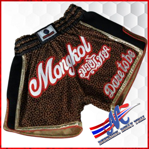 Mongkol Muay Thai Shorts - Cheetah Dare To Be (VELVET-MESH)