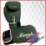 boxing gloves green stirp 14oz