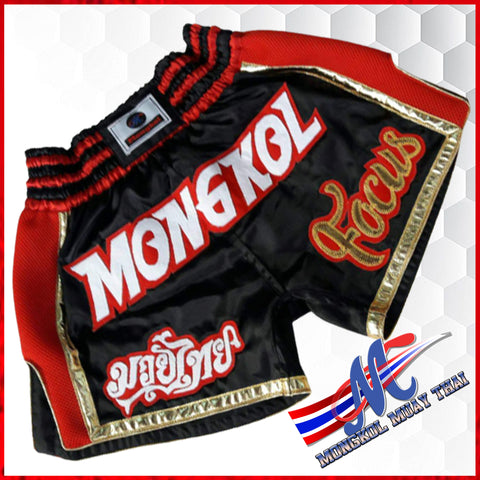 thaishorts focus meduim black red