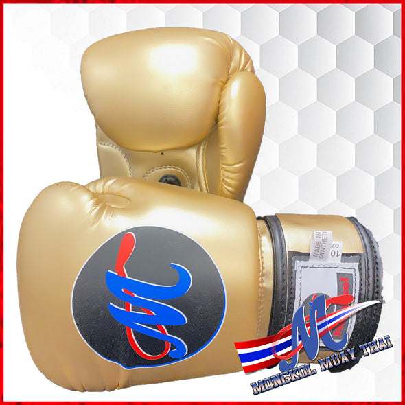 Mongkol Muay Thai Boxing Gloves - Gold