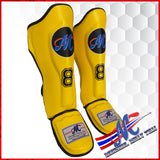shinguards  YELLOW #8 yellow s ,m, L, protection  NEW ARRIVE