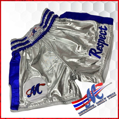 thai shorts repect silver blue m, l