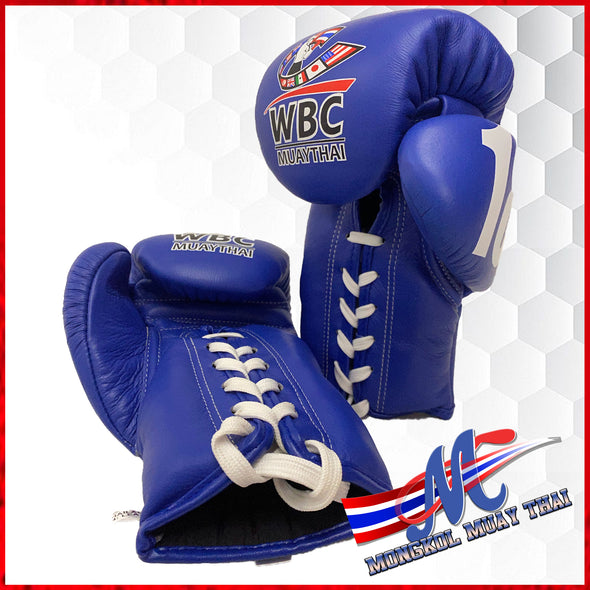 Mongkol Muay Thai Gloves -  WBC Edition Blue last 9 pairs