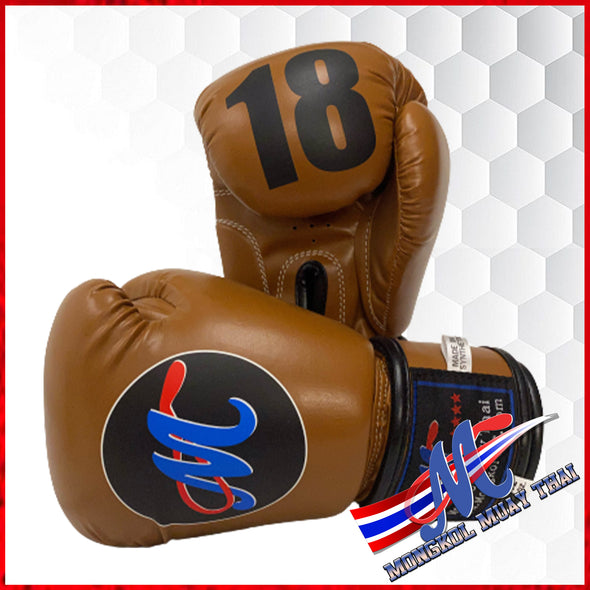 Mongkol Muay Thai Boxing Gloves- Classic Vintage Brown #18