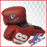 boxing gloves lace up 10oz #18 red