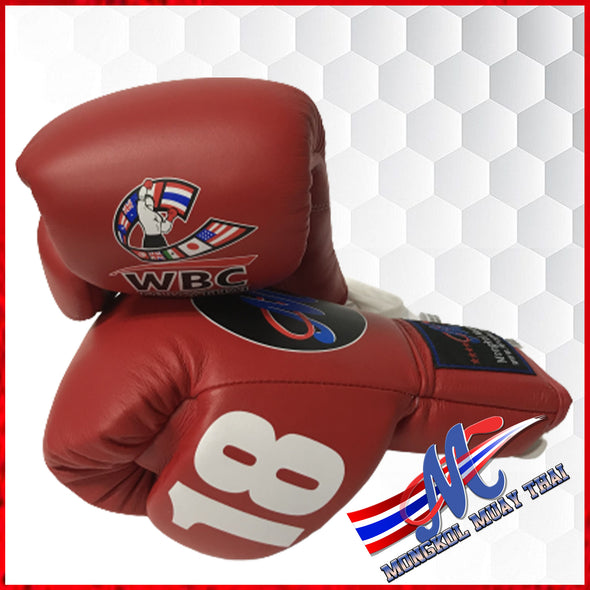 Mongkol Muay Thai Gloves -  WBC Edition Red