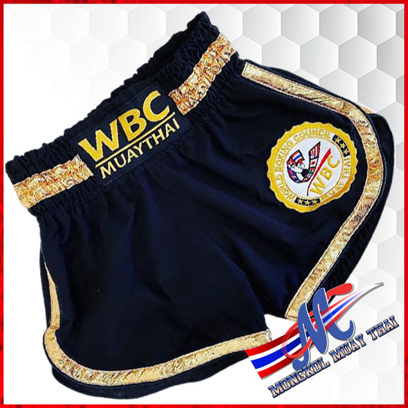 WBC Muay Thai shorts Black-gold