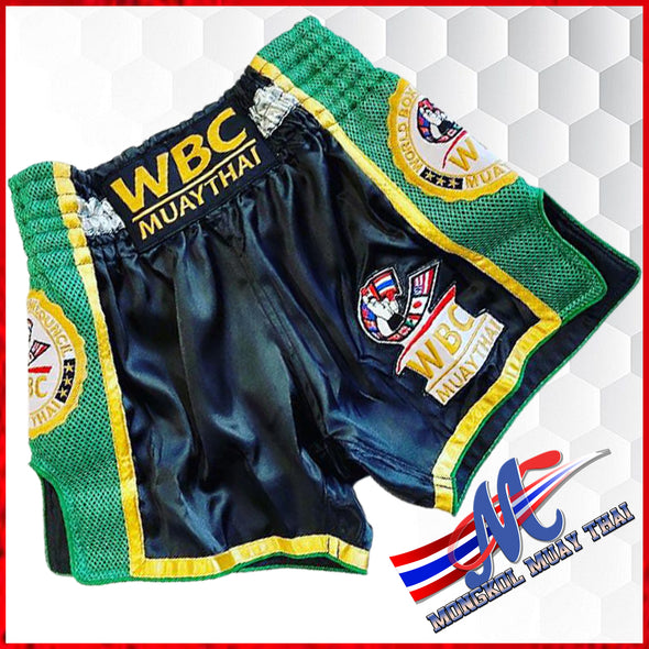 WBC Muay Thai shorts Black Green
