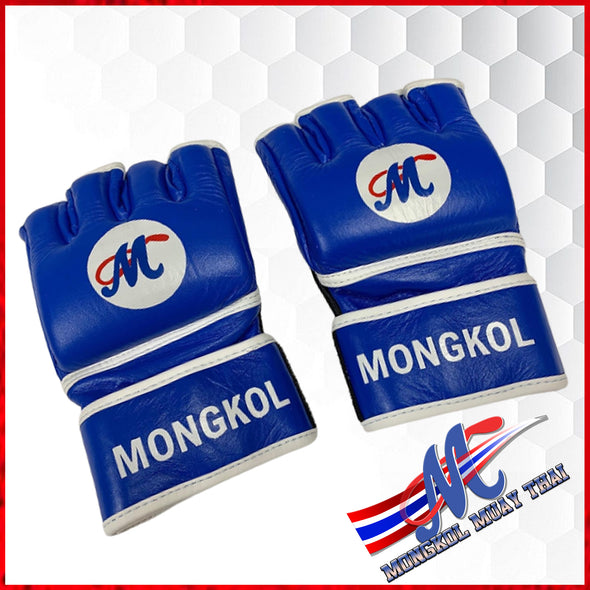 GLOVES MMA BLUE 4OZ MONGKOL, MMA GLOVES