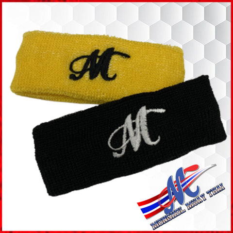 headband black yellow sport headband