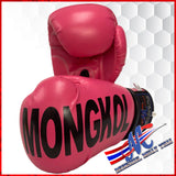boxing gloves printed mongkol pink PU 12, 16