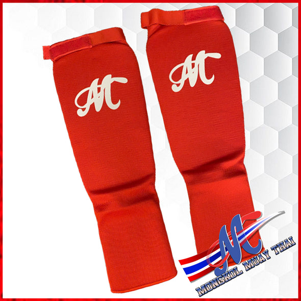 soft shinguards Red M , L clothes shinguards