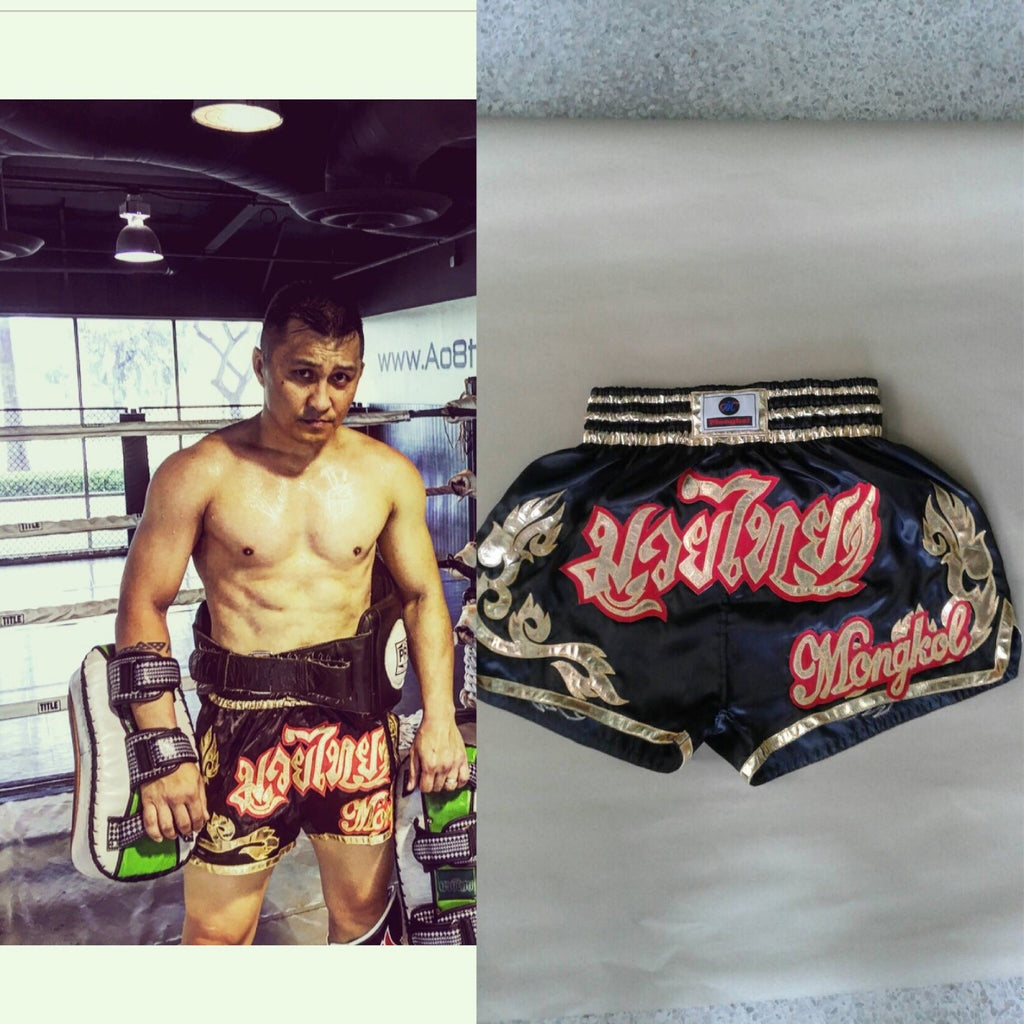 Mongkol Muay Thai Shorts - Mel Black