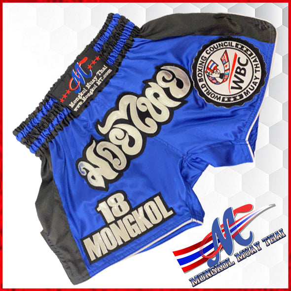 Mongkol Muay Thai  Shorts WBC Edition Blue