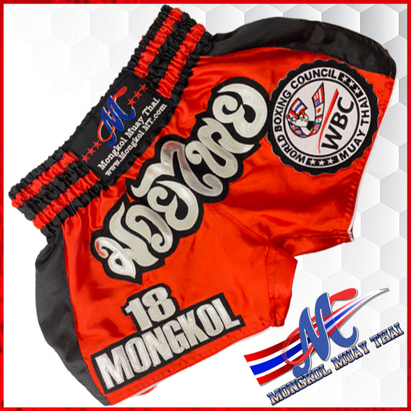 Mongkol Muay Thai  Shorts WBC Edition Red