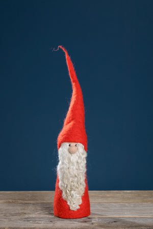 FELTED SANTA WITH RED COAT